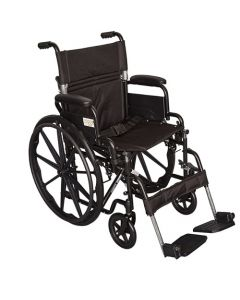 "Ziggo Lightweight Wheelchair 18"" Seat for Kids & Teens"